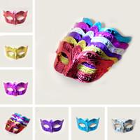 maskeli parti maskeleri satılık toptan satış-Satışa Parti maskeleri Venedik masquerade Maske Cadılar Bayramı Maskesi Seksi Karnaval Dans Maske cosplay fantezi düğün hediyesi mix renk IB394