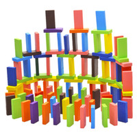 120 Unids / set Mix 10 Colores Niños de Madera Niños Domino Game Play Toys Shop @ Z70