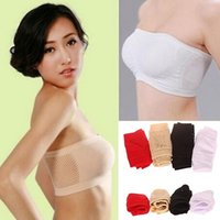 tubes boob soutiens-gorge achat en gros de-Gros-femmes sans couture sans bretelles haut gilet respirant sport Bras Bandeau Boob Tube