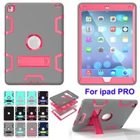 Pour iPad Pro 9.7 air3 Heavy Defender Housse Etui Silicone Hybrid Armor Robot 3 in1 Étui de protection Rugged Hard Shockproof Case