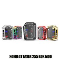 Wholesale build flash - Autnentic XOMO GT LASER 255 BOX MOD Built In 3500mAh Battery VV VW 150W Mods With LASER Flashing Lights
