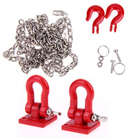 Wholesale Axial Kit - 1:10 RC Rock Crawler Accessories Tow Hooks and Trailer Chain Kit for Axial SCX10 Tamiya CC01 D90 D110 TF2 RC Trucks Car Parts