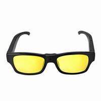 Wholesale glasses camcorder hidden camera - Fashion Colorful HD 1080P hidden sunglasses camera Audio Video Recorder plastick Glass Camera mini camera DV USB Disk camcorder