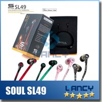Wholesale Soul Sl49 Earphones - Brand NEW For iPhone 6 5S 5 SOUL by Ludacris SL49 RB Ultra Dynamic In-Ear Headphones SL49GB In-Ear Earphone Headset Headphone Free Shipping