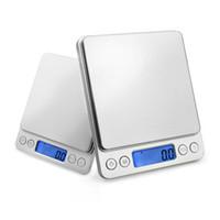 küchenwaagen gewichte großhandel-500g x 0,01g 1000g x 0,1g Digital Taschenwaage 1kg-0,1 1000g / 0,1 Schmuck Waagen Elektronische Küche Waage
