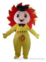 Wholesale Smiling Mascot - SX0728 Good vision and good Ventilation a sunflower man mascot costume with smile for adult to wear