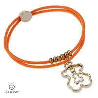 Wholesale Animal Bear Charm - 6 style lovely bear charm bracelets Elastic gold bear charms women or children fashion jewerlry bracelets