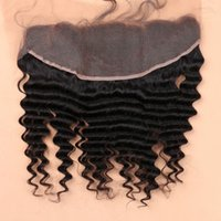 Wholesale Side Parting Brazilian Hair Closure - 7A Full Lace Frontal Closure 13x4 Deep Curly Wave Virgin Brazilian Human Hair Ear To Ear Top Lace Frontal Pieces Wholesale Price
