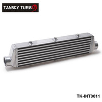tansky intercooler al por mayor-TANSKY -NEW H G 550x140x65mm UNIVERSAL DELANTERO TURBO INTERCOOLER PARA Honda Civic Nissan Toyota TK-INT0011