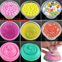 Wholesale modeling clay children - 55 Colors DIY Fluffy Slim Foam Mud Stress Relief Anxiety Reducer Toys Cotton Snowflake Mud Modeling Clay For Adult Children Gifts HH7