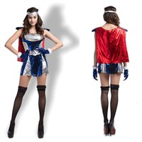 Wholesale Theme Clothing - Thor Women Version Style Clothes Super Heroes Halloween Costumes Marvel Comics Cosplay Carnival Theme Costume Dress Headwear Gloves