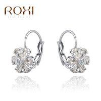 Wholesale Custom Korean Jewelry - Korean fashion jewelry custom OL Austria exquisite crystal jewelry five petal flower zircon ear clip