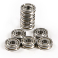 Wholesale Steel Bearing Pulleys - Wholesale- New Model V623 603ZZ 10pcs set 5*16*5mm V Groove Bearing Kit High quality High carbon steel depth 0.5mm traces Pulley Bearings