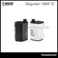 Wholesale Flow Designs - Movkin Disguiser 150W TC Mod W O Battery Box Mod OLED Screen Hiding Tank Design Big Window Let Air flows In Mod 100% Original