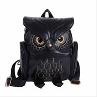 owl backpack free shipping - Ladies Owl Backpacks Women Cartoon School Bags For Teenagers Girls PU Leather Women Backpack Brands