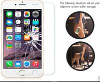 filme protetor livre venda por atacado-Frete grátis 2.5D 9 H 0.3mm protetor de tela para iphone 7 4s 5c 5s se 6 6 s além de filme de vidro temperado para iphone 6 7 6 plus case capa de vidro