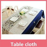 Wholesale Textile Banquet - Shipping Free Flax Table Cloth Tablecloth Fiberflax Table Cover Round For Banquet Wedding Party Decoration Home Textile 16110209