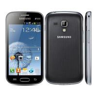 samsung telefon s7562 toptan satış-Yenilenmiş Samsung Galaxy S7562 Çift SIM 4.0 inç 1 GB RAM 4 GB ROM Akıllı Telefon 5.0MP Kamera 3G WIFI Bluetooth GPS Orijinal Cep Telefonu