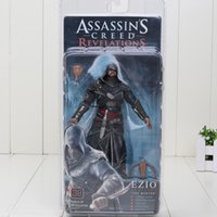 Wholesale Altair Neca - 7inch 18cm NECA Ezio Assassin's Creed 3 Altair Player PVC Action Figure Toy Limited Edition Boxed