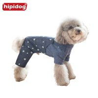 Hipidog Pequenos Cães Animais Jeans Jumpsuit Rompers Classic Jean Stars Roupa Outfit Outono Outono Outwear para Bichon Frise Puppy
