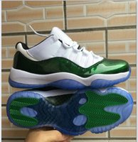 2018 High Quality air Retro 11 Low Easter Emerald uomo Scarpe da basket Sneakers economici White / Emerald Rise-Black 11s scarpe da ginnastica per uomo US7-13