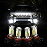 kit xenon h8 h11 toptan satış-H11 H8 9006 H7 H4 H3 Xenon Beyaz 7.5 W LED Araba Sis Ampuller Işık Için 12 V Araba Araçlar