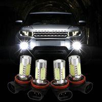 auto versteckte umbausatz großhandel-H11 H8 9006 H7 H4 H3 Xenon Weiß 7.5W LED Auto Nebelscheinwerfer Licht für 12V Auto Fahrzeuge