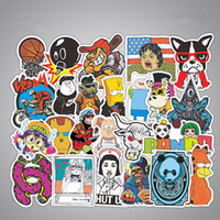 Barato Diy Sticker Bomb-50 pcs Car Stickers Home Funny Skateboard Motocicleta Laptop Stickers Car covers DIY Vinyl Decal Pump styling Sticker