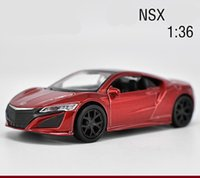Wholesale Honda Diecast - 1:36 scale diecast metal car model,High simulation Honda NSX sports car,children's toy vehicle,pull back&2 open the doors