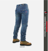 Wholesale drop jeans man - The 2016 new High quality KOMINE pk718 motorcycle jeans riding pants Slim racing pants have protection off-road pants Drop resistance pants