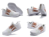 Wholesale Bond Horse - 2016 New Arrival Kobe 11 White Horse Low Basketball Shoes Men White Multicolor Sneakers Cheap Retro Weaving Kobe 11 Sport Shoes