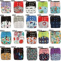 Wholesale Double Gussets - [Sigzagor]Bamboo Charcoal Baby Cloth Diaper Nappy Pocket Washable,Double Gussets
