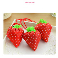 Wholesale wholesale wine totes - cute Strawberry Shopping Bags Foldable Tote Eco Reusable Storage Grocery Bag Tote Bag Reusable Eco-Friendly Shopping Bags