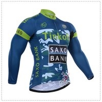 Wholesale Team Saxo Bank Shirt - saxo bank Autumn or winter fleece 2015 team Cycling Jerseys Bike Bicycle Long Sleeves Mountaion MTB cycling Jersey Clothing Shirts