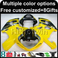 Wholesale king motorcycle resale online - 23colors Gifts YELLOW motorcycle cowl for Suzuki GSX R600750 GSXR750 ABS Plastic Fa