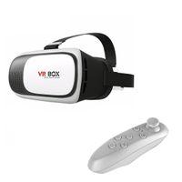 ingrosso bicchieri 3d in scatola-Occhiali 3D Langboss VR BOX 2.0 per IOSAndroid Smartphone Occhiali video 3D Realtà Virtuale + Gamepad Bluetooth Remote