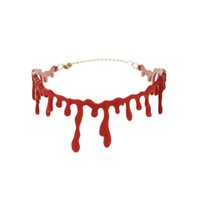 accessories for red dresses NZ - 2016 New Choker Necklace Halloween Horror Blood Drip Necklace Fancy Dress Fun Joke Choker Red Novelty Accessories For Women