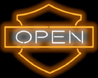 "Wholesale Neon Light Open - Bar and Shieldd Open Neon Sign Real Glass Tube Light Store Shop Disco KTV Club Beer Bar Display Advertising Handcrafted Sign 30""X24"""