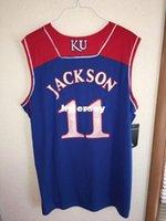 Wholesale Ku Jayhawks - Cheap custom #11 Josh Jackson Kansas Jayhawks KU College Basketball Jersey White Blue Embroidery Stitched Custom any Number and name Jerseys