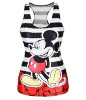 Wholesale Despicable Shirts - Wholesale-Olso Free Shipping summer new 2016 women t-shirt RIBS 3D Vest tops Skull bone Camisole Sexy Tank top Despicable mickymouse