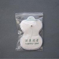 électrodes blanches achat en gros de-Électrodes blanches blanches de haute qualité pour des appareils de massager de machine de thérapie numérique d'acupuncture de dizaines 2piece = 1pair