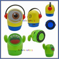 Wholesale Best Wireless Reader - JY-WT Big Eye Doll Cute Cartoon Minions Mini Bluetooth Wireless Speaker Portable Best Sound Subwoofer With Hands-free MIC TF Card USB Disk