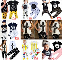 Cheap Unisex baby Girls 2pcs Set Best Summer Cotton shirt pants