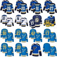 Wholesale White Spandex Purple - 2018 season St. Louis Blues Men's 27 Alex Pietrangelo 91 Vladimir Tarasenko 10 Brayden Schenn 20 Steen 26 Stastny Hockey Jerseys