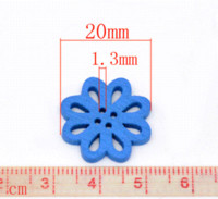 Wholesale Express Clothing - 300 Mixed Flower Shape Wood Sewing Buttons 20mm Clothes Accessories Over $115 Free Express M64918