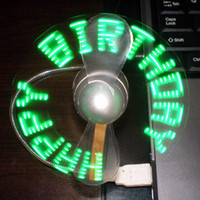 Wholesale Led Promotion Item - 2016 China supplier USB LED flashing message fan, best promotion gift items, fancy christmas favor gift