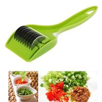 Wholesale Chopper Accessories - Stainless Kitchen Accessories Gadgets Blade Green Onion Chopper Slicer Garlic Coriander Cutter Chopper Vegatable Cooking Tools