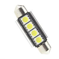 ingrosso festaon canbus-10 pz 31mm 39mm 41mm C5W 5050 4SMD Bianco / Blu / rosso CANBUS Errore Free Car Targa luci Lampadina Cupola Festone Lampade 12 V 10X