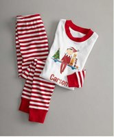 Wholesale Womens Cotton Pajamas Sets - Children christmas outfits baby girls boys cartoon printed sleepwear two-piece womens father halloween stripe clothing sets T0173