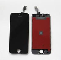 цены на панель iphone lcd оптовых-Для iPhone 5 ЖК-дисплей с сенсорным экраном дигитайзер для iPhone 5 белый/черный замена частей сотового телефона сенсорные панели заводская цена